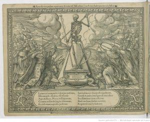 [Memento Mori] : [estampe]. - A Paris, par Germain Hoyau, & Mathurin Nicolas, Rue Montorgueil, au bon Pasteur [entre 1558 et 1581]