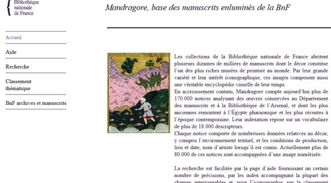 Mandragore, base des manuscrits enluminés de la BnF