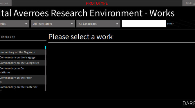 Digital Averroes Research Environment (DARE)