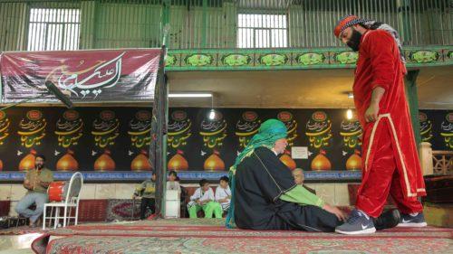 Recherches sur terrain de Ta'zieh, la scène du Martyre d'Imam Hussein © Hossein Fatemian