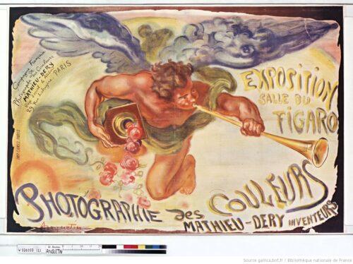 Exposition Salle du Figaro. Photographie des couleurs, Mathieu-Dery inventeurs : [affiche] / [Louis Anquetin]