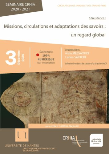 """Affiche séminaire """"Mission, circulations et adaptations des savoirs : un regard global"""""""