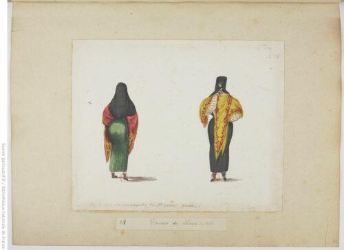 Dames de Lima. 1834, aquarelle 14
