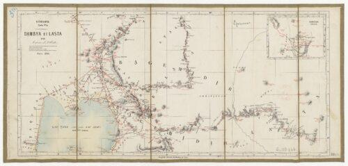 Éthiopie : Carte N°4, Dambya et Lasta par Antoine d'Abbadie, Paris, 1866