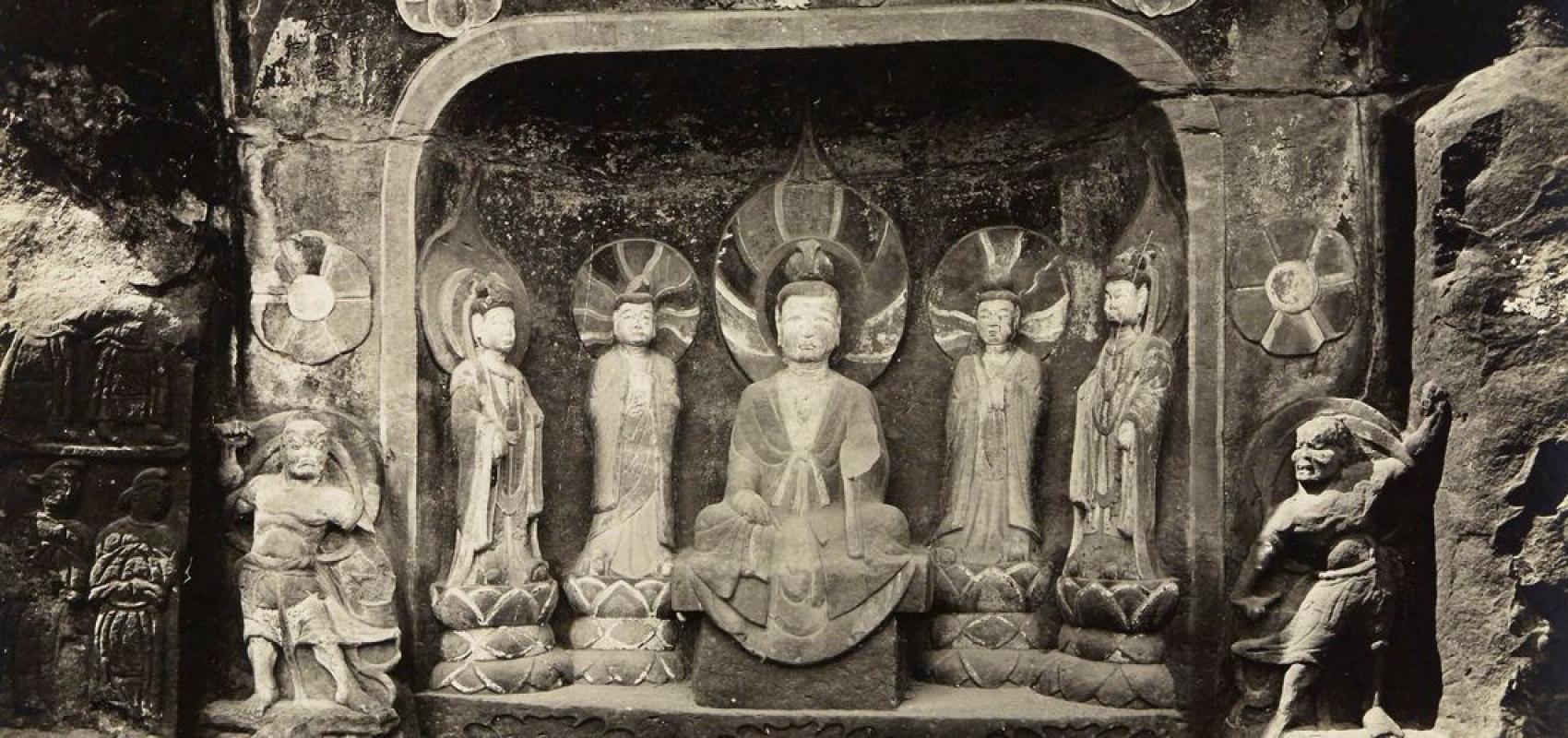 Mission archéologique, Chine, Mien tcheo – Victor Segalen, Augusto Gilbert de Voisins, Jean Lartigue - 1914 - BnF, département des Estampes et de la photographie